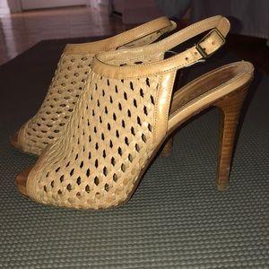 Derek Lam Basket Weave Peeptoe Sandals Size 38